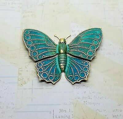 Large Verdigris Patina Brass Butterfly Stamping (1) - VPS3320  Jewelry Finding