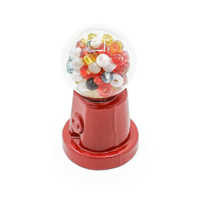 Candy Gum Gumball Vending Glass Machine Toy Miniature Dollhouse Accessory Gift