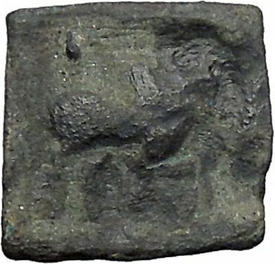 APOLLODOTOS II 110BC Indo Greek Kingdom INDIA Bull Tripod Ancient Coin i47804