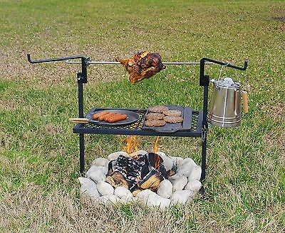 Rotisserie Spit Grill Stainless Steel Camping cooking outdoor campfire Cooking