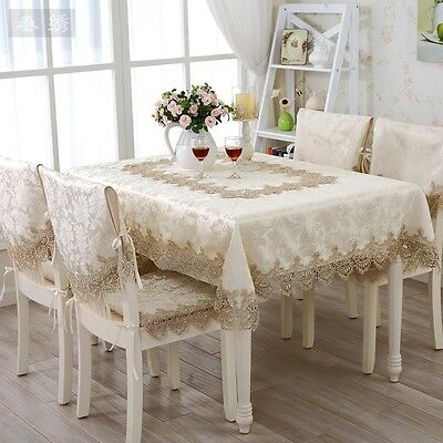 HBZ292 fabric lace tablecloth runner chair cloth cushion cover tableware napkin
