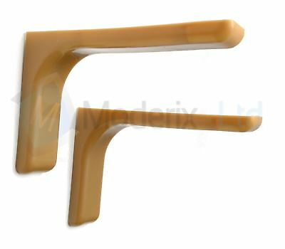 Shelf support brackets with covers 120mm Invisible/Concealed Fixings Light Brown