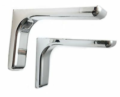 Shelf support brackets with covers 240mm Invisible/Concealed Fixings Chrome