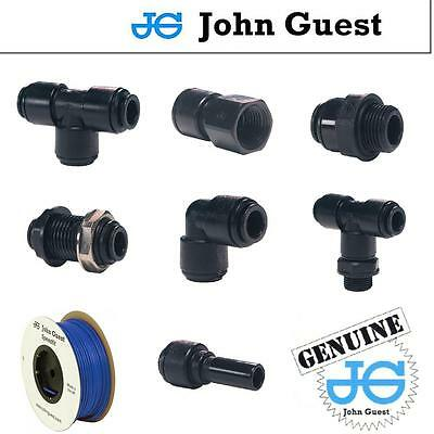 8MM JOHN GUEST GENUINE PUSH FIT Pneumatic Fittings, Water, Air, Filter Pump Pipe