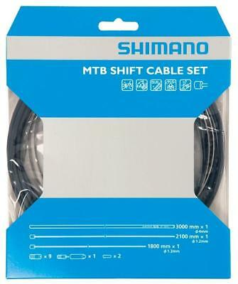 Shimano Gear Shift Cable Set Stainless Steel Inner Wire Black MTB Mountain Bike