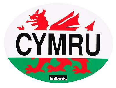 Halfords cymru car sticker oval self adhesive decals exterior styling road