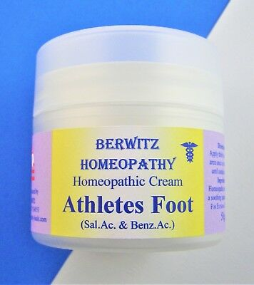 ATHLETE'S FOOT HOMEOPATHIC NATURAL ANTI-FUNGAL ITCHY SKIN AND NAIL CREAM 50g