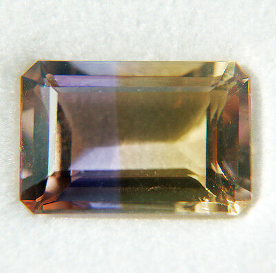 natural bicolor AMETRINE faceted octagon 6,12 cts EC - Saphirboutique GERMANY