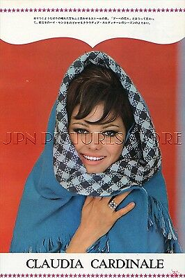 """CLAUDIA CARDINALE sexy 1965 Vintage JPN PICTURE CLIPPING 7x10"""" #LF/Z"""