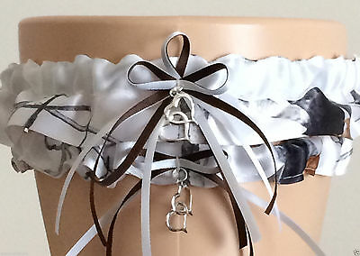 52088cca0d2 True Timber Snowfall White Camo Garter Set Wedding Prom INCLUDES Tossing  Garter