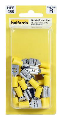 Halfords hef376 spade connectors pack 20 pieces 5 amp female halfords hef388 spade connectors 375 20 pieces 25 amp female semi insulated publicscrutiny Image collections