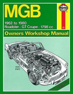 Haynes Owners Workshop Manual MGB Roadster GT Coupe 1798cc 1962-1980 Petrol