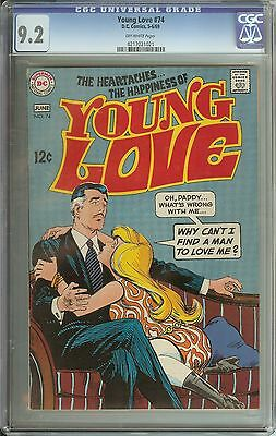 Young Love #74 Cgc 9.2 Ow Pages // Dc Romance