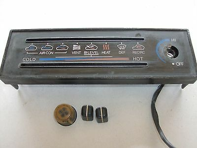 79-83 Datsun 280Zx Dash Air Heat Bezel A/C Heater With Knobs Nice Oem Parts