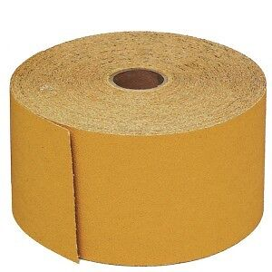 3M 02593 Stikit 240 Grit Continuous Abrasive Gold Sheet Roll, 2593