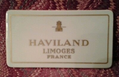 Antique Haviland Limoges France  Dealer Store Display Sign  or Plaque 1894-1931