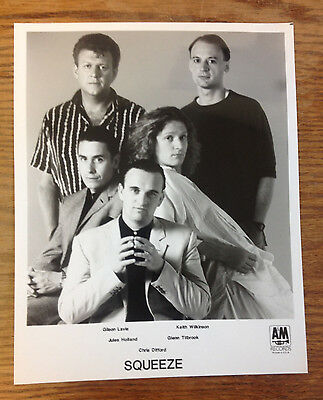 SQUEEZE * RARE Promotional Promo Press Photo COLLECTIBLE 8x10