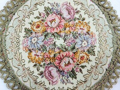 Antique Embroidered Table Mat Made in West Germany 3