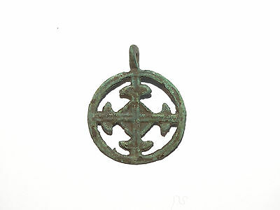"Fine Viking  pendant "" Cross in a circle"". Kievan Rus. Viking. ca 1000--1100 AD"
