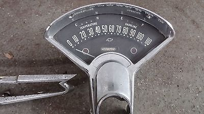 1956 chevy tri 5 speedometer original in nice usable condition