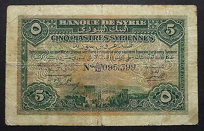 Syrie - 5 Piastres  1er aout 1919