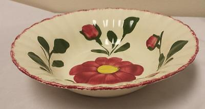 Blue Ridge Southern Pottery Colonial Red Nocturne Large Serving Bowl 9.25""