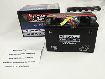 Bateria Power Thunder YTX9-BS  sellada sin mantenimiento
