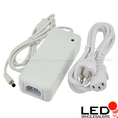 12V 4A 48W AC/DC Power Adapter with 5.5x2.1mm DC Plug, White, UL-Listed