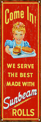 Sunbeam Rolls Country Advertisement Sign Reproduction Aged