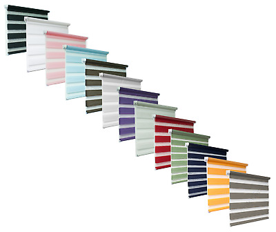 Quality Zebra/Vision Window Roller Blinds 12 Colours and 16 Sizes, 150cm Drop