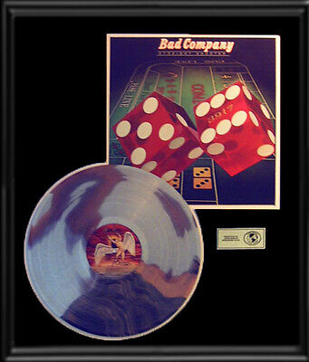 Bad Company Straight Shooter Lp Gold Record Platinum Disc Album Frame
