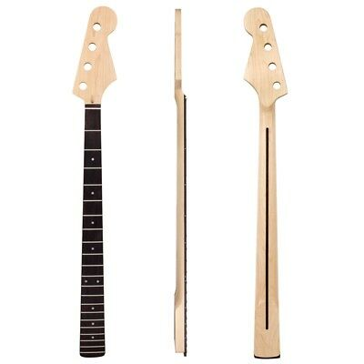 Electric Bass Guitar Neck For JB Parts Replacement Maple Wood 21 Fret Rosewood