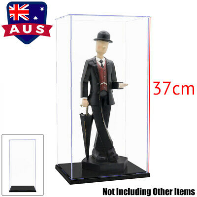 37cm H Large Acrylic Plastic Display Case Box Self-Assembly Dustproof Protection
