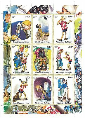 Niger Stamps 1998 Classic Pinocchio souvenir sheet / MNH