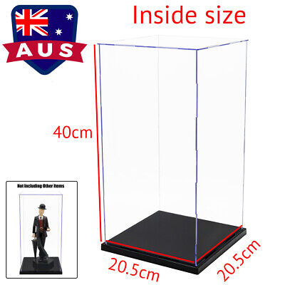 41cm Display Acrylic Box Perspex Case Self-Assembly Plastic Protection Dustproof