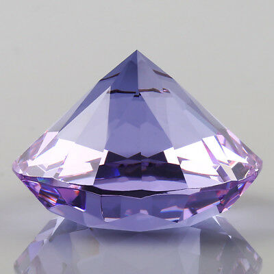 40mm Purple Crystal Diamond Shape Paperweight Glass Gem Display Ornament Gift
