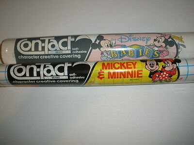 2 rolls Disney Rubbermaid Mickey and Minnie / Babies Contact Covering Paper