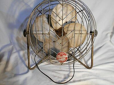 Vintage Collectible Heavy metal WIRE Cage Electric Fan