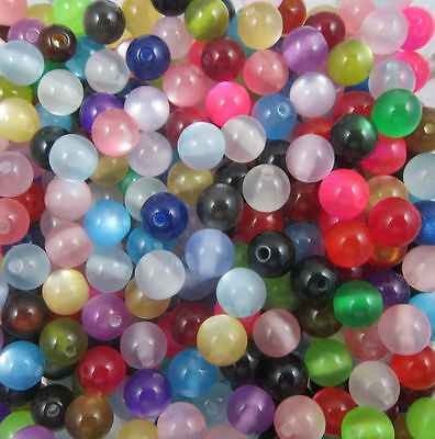 wholesale:100/300pcs beautiful cat's eye acrylic Charms Spacer beads 8mm