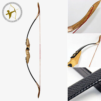 New 50LBS@28'' Archery Hunting Black Snakeskin Traditional Takedown Recurve Bow