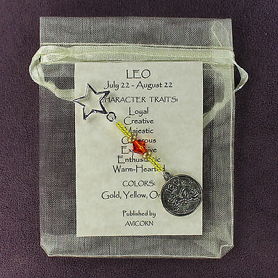 LEO ZODIAC CHARM Amulet Astrology Stars Sun Signs Planets Horoscope Traits
