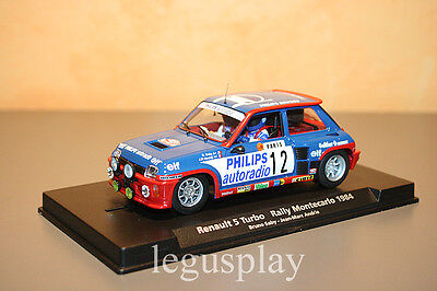 Slot Car Scalextric Fly 88163 / A1202 Renault 5 Turbo Rally Montecarlo  Nº12 New