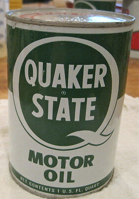 Extra Nice Vintage Quaker State Metal Oil Can -Full SAE 20-20W