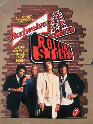 THE ROLLING STONES VOODOO LOUNGE 20 X 27 CARDBOARD PROMO 1994  RARE MINT ITEM