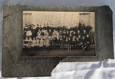 antique photo - group of children - late 1800s or early 1900s