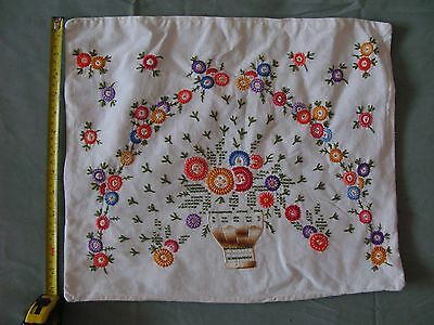 Vintage Hand-Embroidered pillow case