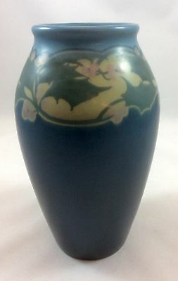 "Rookwood Pottery Vellum 8"" Holly Vase, Ed Diers 1917-MINT"