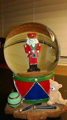 """LOVELY Musical Waterball """"""""NUTCRACKER WITH A DRUM"""""""