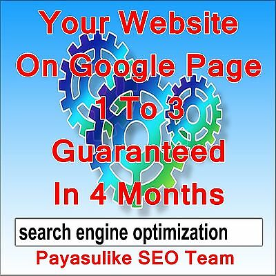 Google Page 1 To 3 Ranking In 4 Months + 175 Alexa Backlinks SEO Service Package