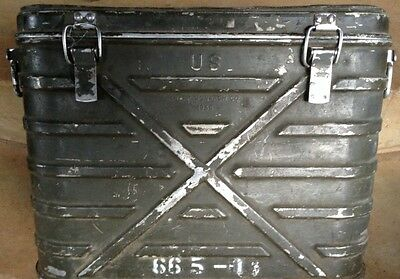 ANTIQUE VINTAGE ARMY MILITARY iINSULATE FOOD CONTAINER COOLER METAL STORAGE 1948